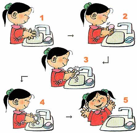 培养爱洗手的好习惯