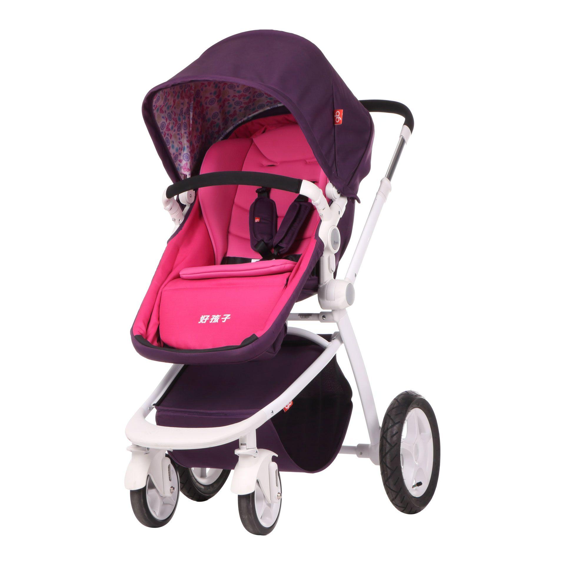 好孩子婴儿推车视频_gb好孩子铂金升级版 高景观多功能婴儿推车 GB08-W-L446RP_好孩子